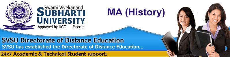 Subharti University MA HISTORY Distance Learning