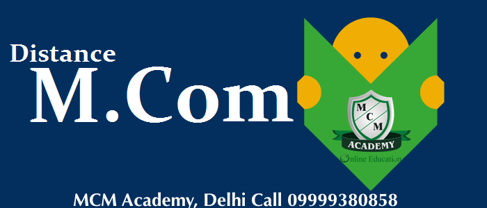 Distance Learning M.com