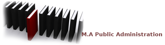 MA PUBLIC ADMINISTRATION Distance Learning
