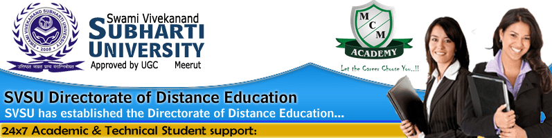 Subharti University BA ENGLISH Distance Learning