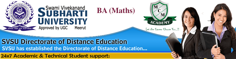 Subharti University BA MATHS Distance Learning