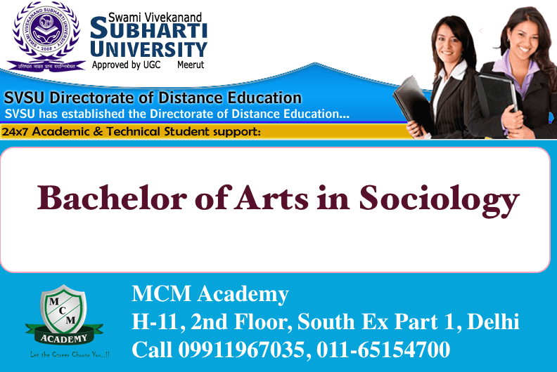 Subharti University BA SOCIOLOGY Distance Learning
