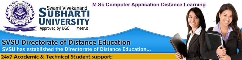 Subharti University M.Sc. Computer Application Distance Learning