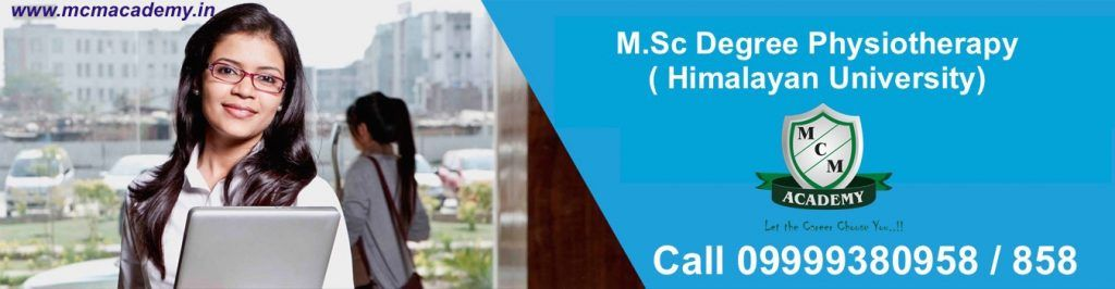 M.Sc Degree Physiotherapy Himalayan University