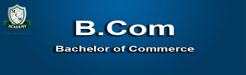 B.Com Degree Fast Track Mode