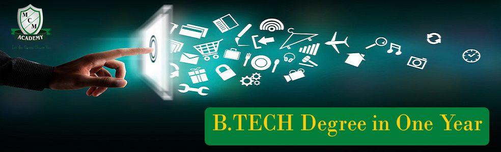 B.Tech Degree One sitting