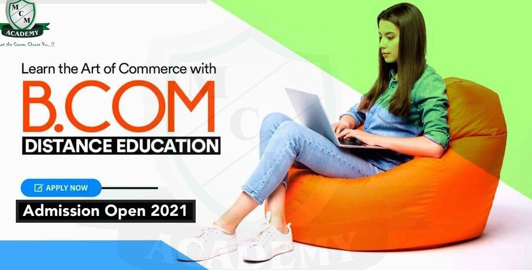 distance online bcom course